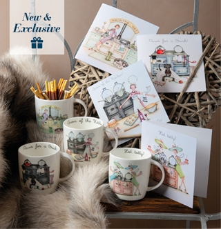 Our New Mugs and Greetings Cards range